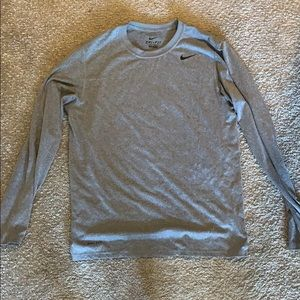 Men's Nike grey thin Dri Fit shirt